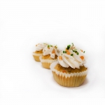 Cupcake salé saumon fumé fromage ciboulette oeufs de saumon