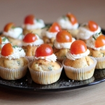 Cupcakes salés Tomate Basilic Crème cheese