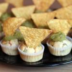 Cupcakes salés olives poivrons guacamole