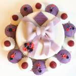 Gâteau fleur et noeud (4)b