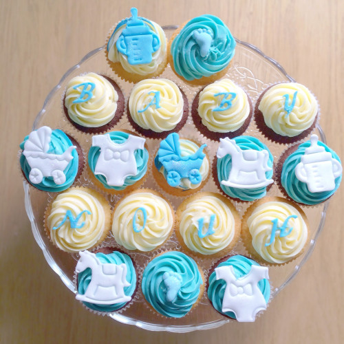 Baby shower cakes baby shower cupcake cake ideas boy - Baby Shower Garcon 2 Call Me Cupcake Commande