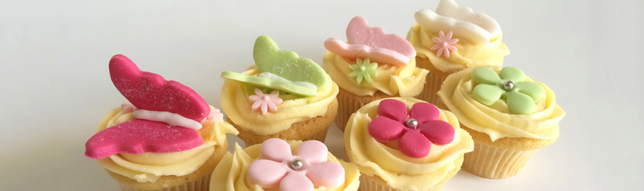Baptême Cupcakes Papillon