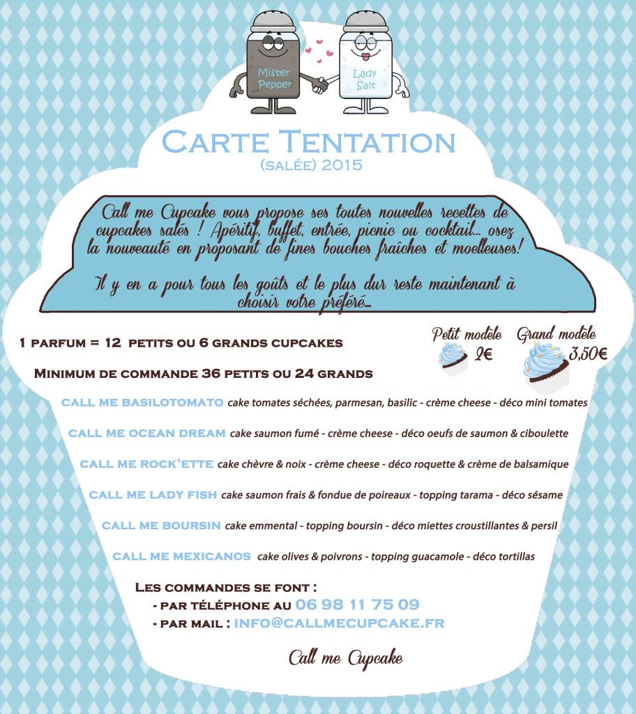 Carte Tentation salée 2015